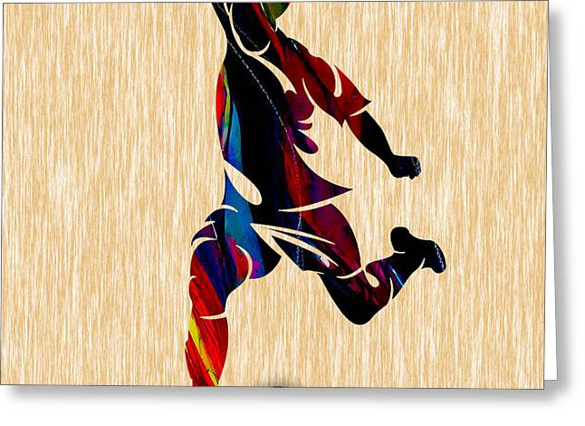 Soccer Greeting Card by Marvin Blaine