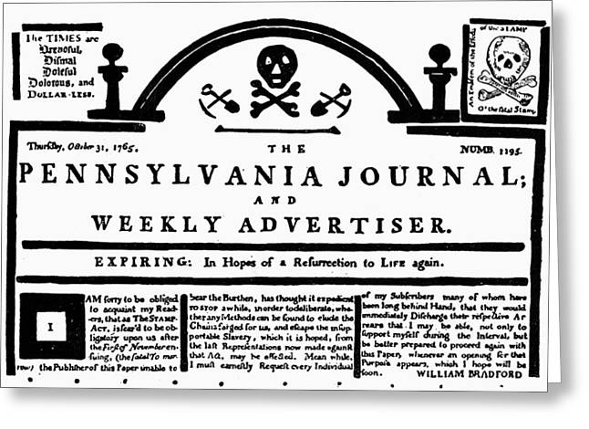 Stamp Act, 1765 Greeting Card by Granger