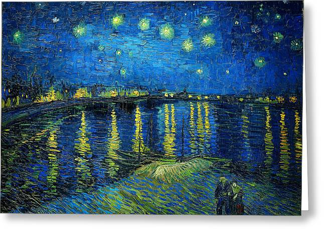 Starry Night Over The Rhone Greeting Card by Vincent van Gogh