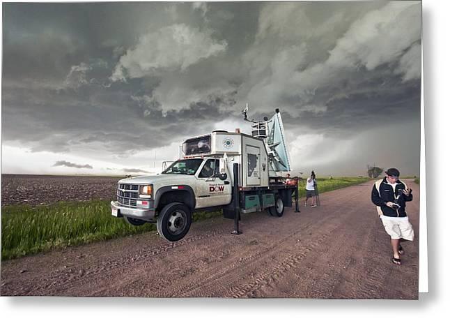 Storm Chasing, Nebraska, Usa Greeting Card