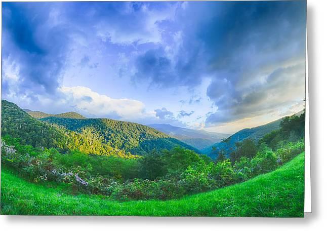 Sunrise Over Blue Ridge Mountains Scenic Overlook  Greeting Card