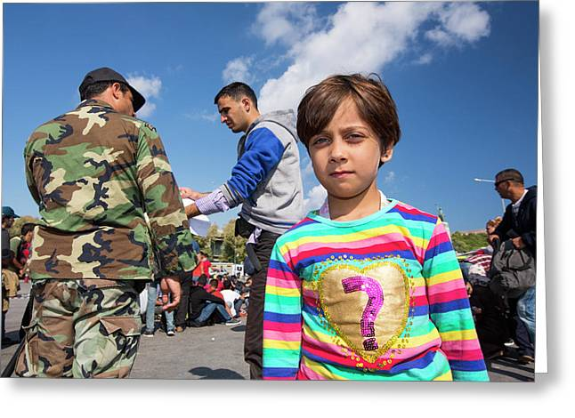 Syrian Refugees Greeting Card