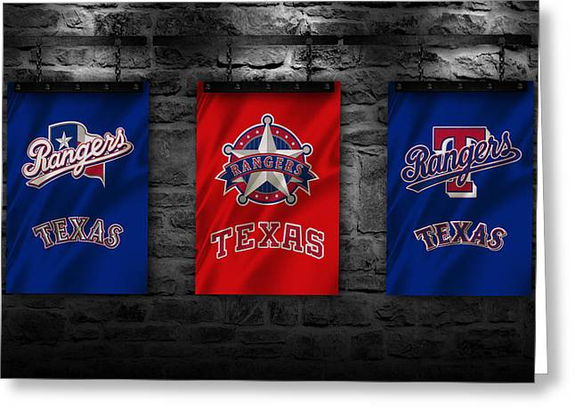 Texas Rangers Greeting Card by Joe Hamilton