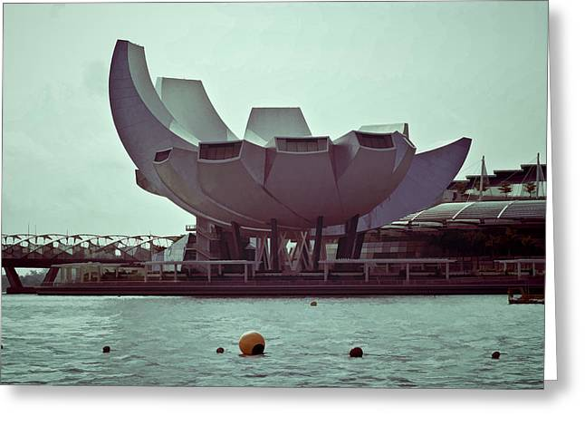 The Artscience Museum In Singapore Greeting Card