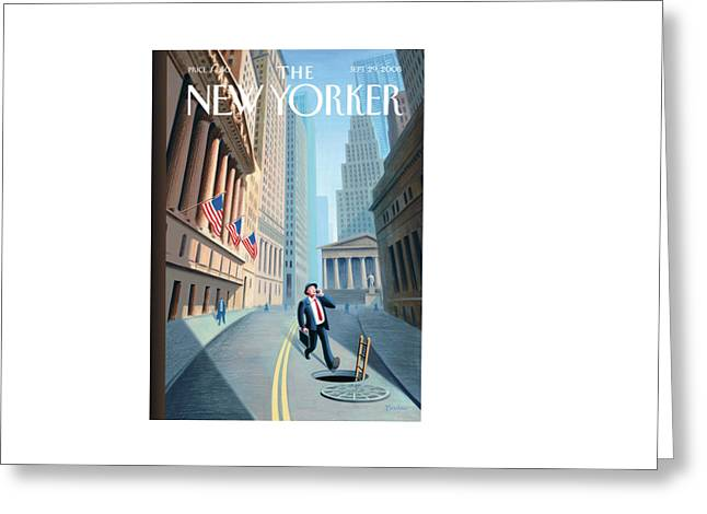 New Yorker September 29th, 2008 Greeting Card by Eric Drooker