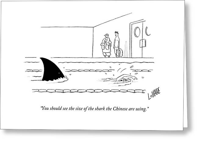 You Should See The Size Of The Shark The Chinese Greeting Card