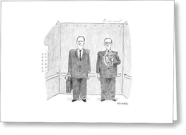 New Yorker February 7th, 2005 Greeting Card by Pat Byrnes