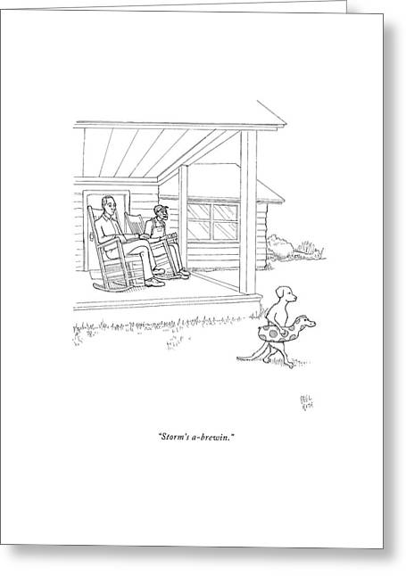 Storm's A-brewin Greeting Card by Paul Noth