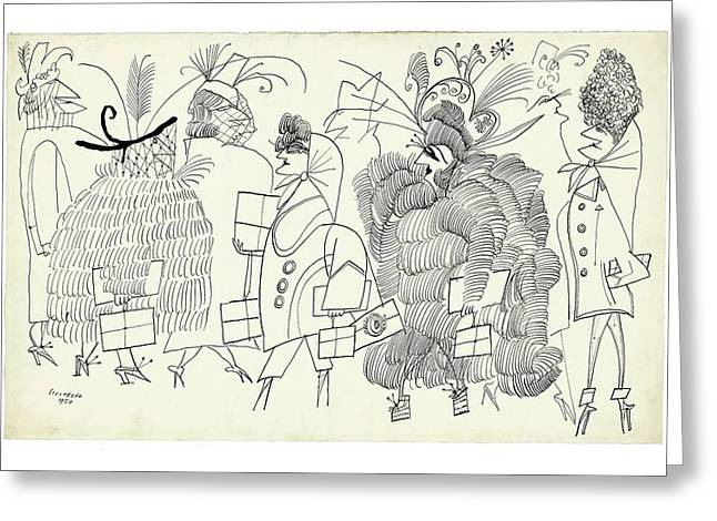 New Yorker December 13th, 2004 Greeting Card by Saul Steinberg
