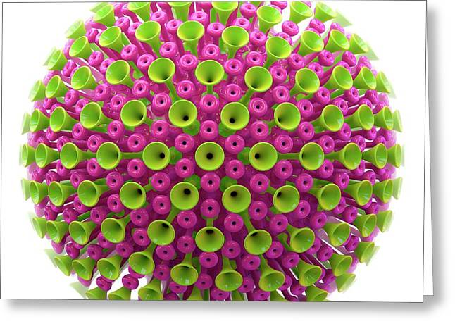 Virus Particle Greeting Card
