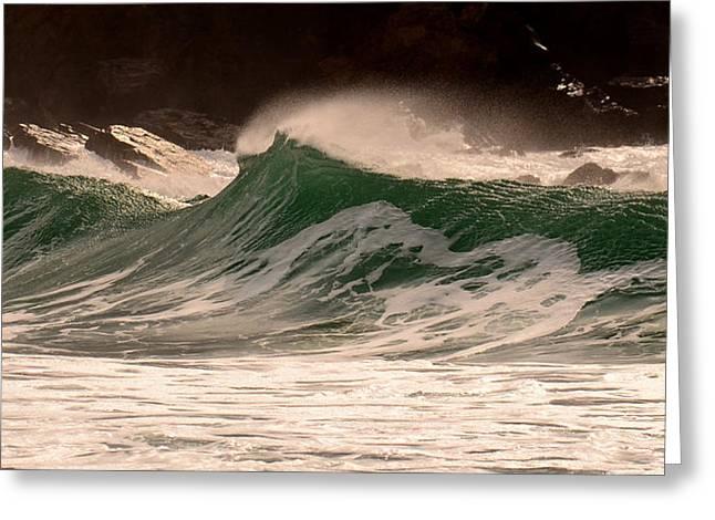Waves Greeting Card by Barbara Walsh