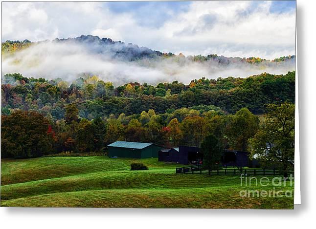 West Virginia Farm Greeting Card by Thomas R Fletcher