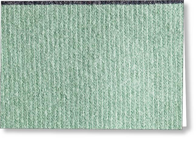 Wool Background Greeting Card by Tom Gowanlock
