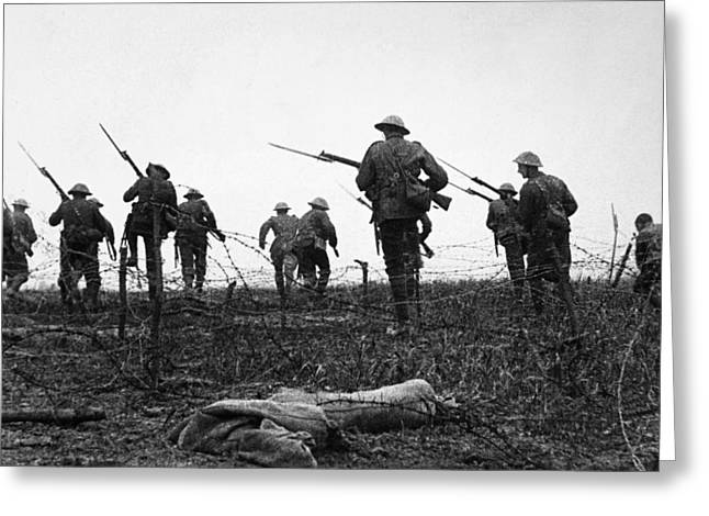 World War I Barbed Wire Greeting Card by Granger