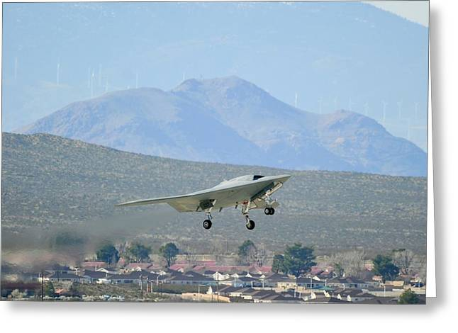 X-47b Unmanned Combat Air Vehicle Greeting Card by Us Air Force