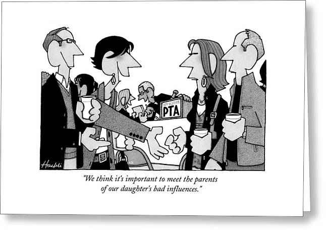 We Think It's Important To Meet The Parents Greeting Card