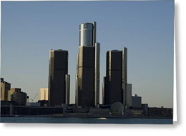 Detroit Skyline Greeting Card by Gary Marx