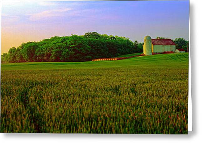 Conley Road, Spring, Field, Barn   Greeting Card