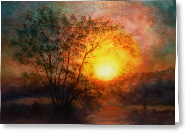 Earth Light Series Greeting Card by Len Sodenkamp