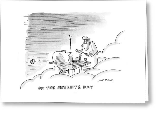 On The Seventh Day Greeting Card