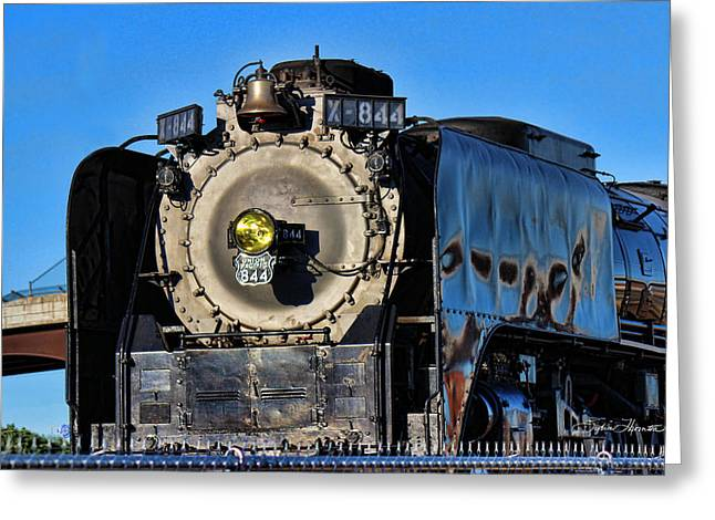 844 Locomotive Greeting Card by Sylvia Thornton