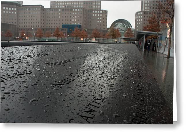8488 911 Memorial View Greeting Card by Deidre Elzer-Lento