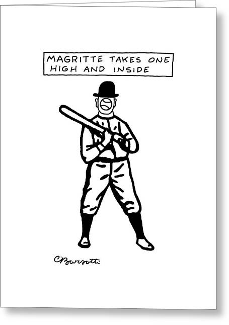 Magritte Takes One High Greeting Card by Charles Barsotti