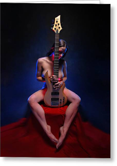 8861 Her Lovers Bass Greeting Card by Chris Maher