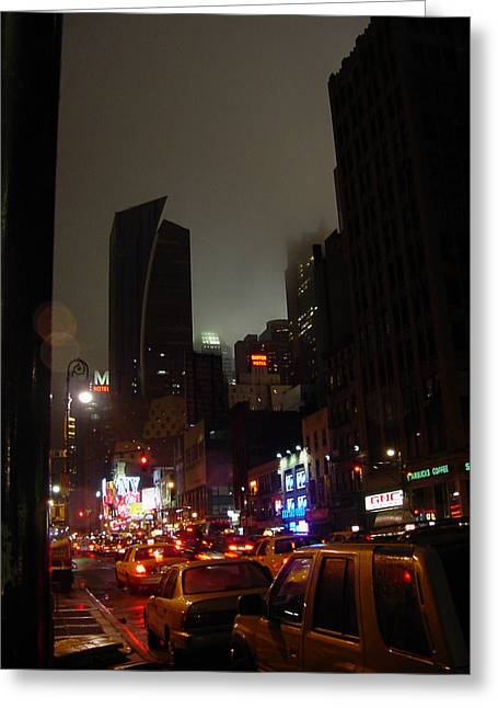 8th Ave Before New York Times Building Greeting Card