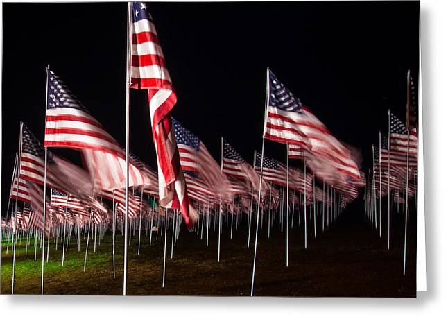 9-11 Flags Greeting Card