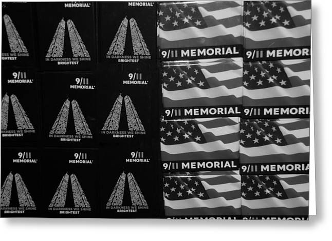 9/11 Memorial For Sale In Black And White Greeting Card by Rob Hans