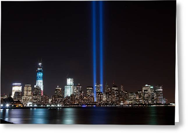 9/11 Tribute Greeting Card by Michael Lofenfeld