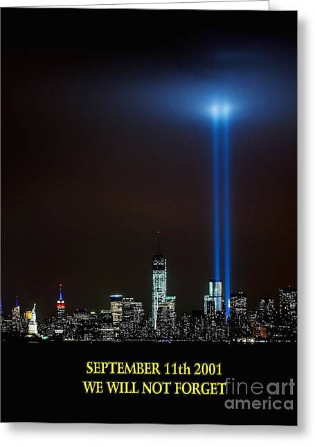 9/11 Tribute Greeting Card by Nick Zelinsky