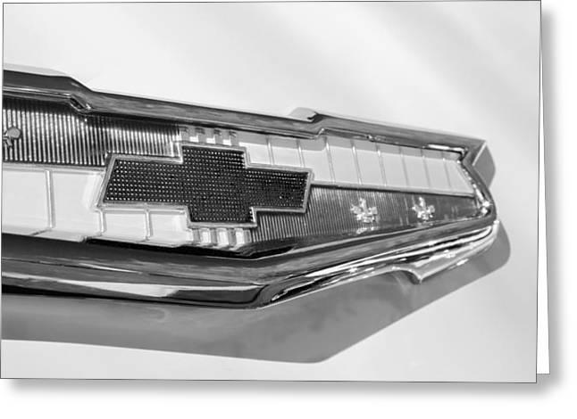 1955 Chevrolet Belair Emblem Greeting Card by Jill Reger