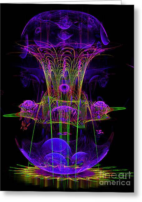 Abstract Artistic Conceptual Fantasy Digital Illustration Greeting Card