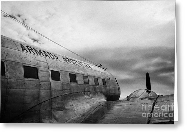 argentine navy dc-3 cabo de hornos Ushuaia Argentina Greeting Card by Joe Fox
