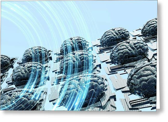 Artificial Intelligence Greeting Card by Victor Habbick Visions/science Photo Library