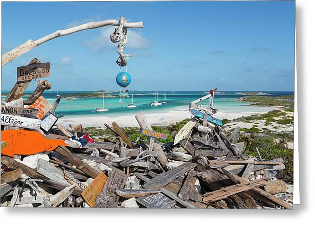 Bahamas, Exuma Island, Cays Land Greeting Card by Jaynes Gallery
