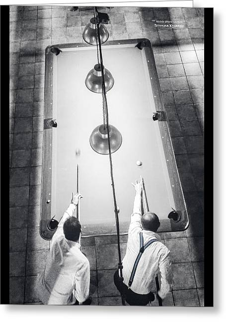 Greeting Card featuring the photograph 9 Ball Lag by Stwayne Keubrick