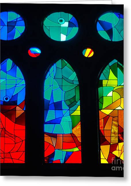 Barcelona Spain - La Sagrada Familia Greeting Card