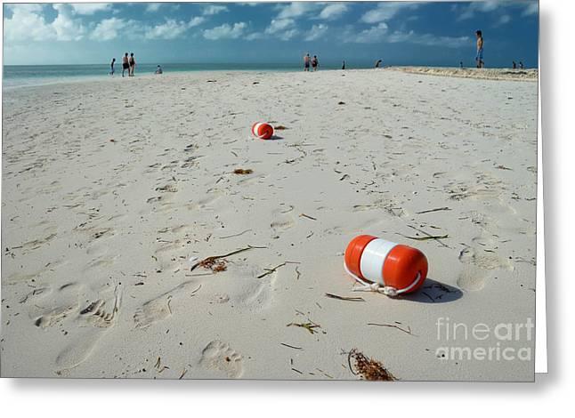Beach At Coco Cay Greeting Card