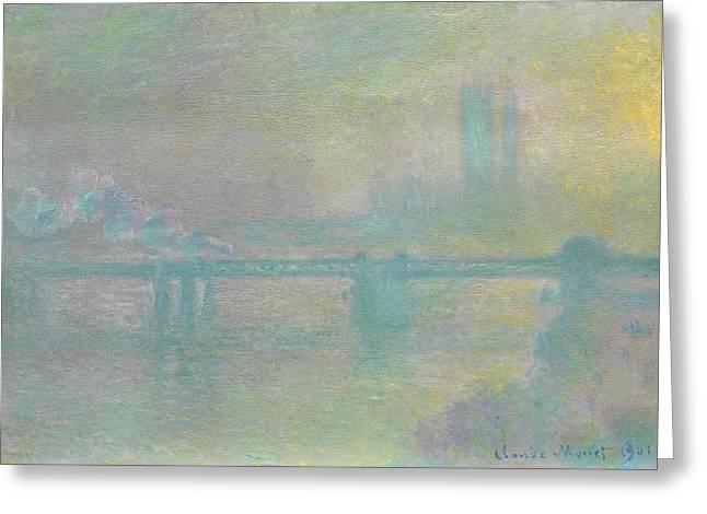 Charing Cross Bridge Greeting Card by Claude Monet