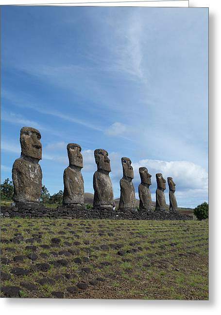 Chile, Easter Island Aka Rapa Nui Greeting Card by Cindy Miller Hopkins