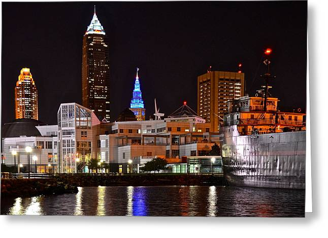 Terrific Greeting Cards - Cleveland Ohio Greeting Card by Frozen in Time Fine Art Photography