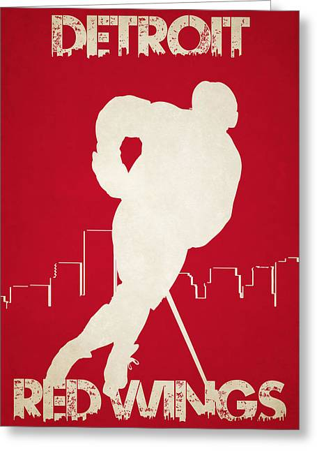 Detroit Red Wings Greeting Card by Joe Hamilton