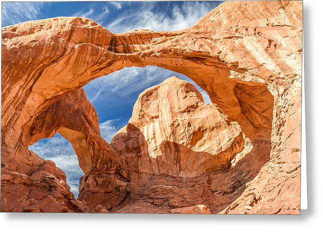 Double Arch In Arches National Park Greeting Card