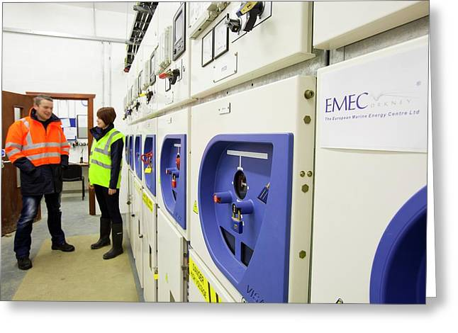 European Marine Energy Centre Greeting Card