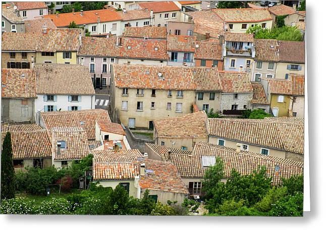 France, Languedoc-roussillon, Ancient Greeting Card by Emily Wilson