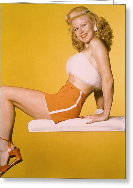 Ginger Rogers Greeting Card by Silver Screen