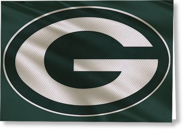 Green Bay Packers Uniform Greeting Card by Joe Hamilton